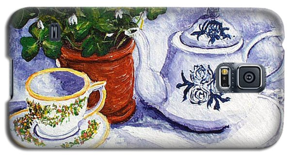 Tea For Nancy Galaxy S5 Case by Barbara McDevitt