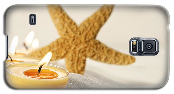 Tea Light Candles In Sand With Star Fish Galaxy S5 Case