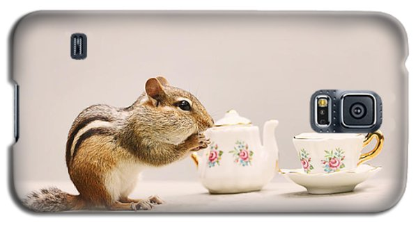 Tea Party With Chipmunk Galaxy S5 Case by Peggy Collins
