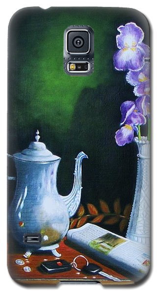Tea Pot With Iris Galaxy S5 Case