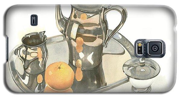 Tea Service With Orange Galaxy S5 Case