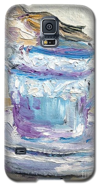 Galaxy S5 Case featuring the painting Tea Time  by Reina Resto