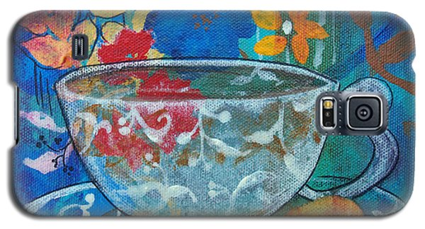 Galaxy S5 Case featuring the painting Tea With Biscuit by Robin Maria Pedrero