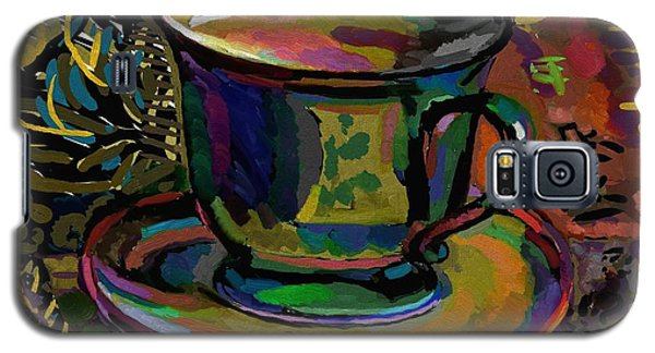 Galaxy S5 Case featuring the digital art Teacup Study 1 by Clyde Semler