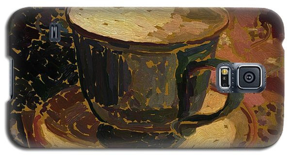 Galaxy S5 Case featuring the digital art Teacup Study 2 by Clyde Semler