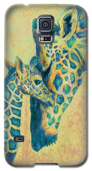 Teal Giraffes Galaxy S5 Case by Jane Schnetlage