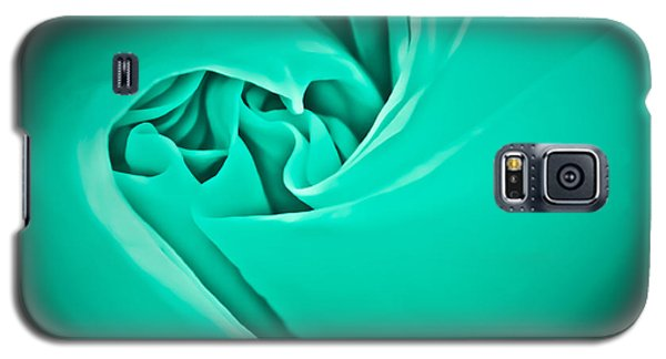 Galaxy S5 Case featuring the photograph Teal Rose-duvet Cover by  Onyonet  Photo Studios