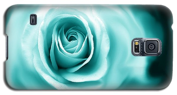 Teal Rose Flower Abstract Galaxy S5 Case