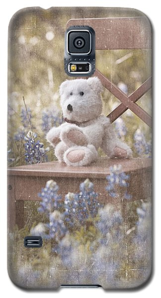 Teddy Bear And Texas Bluebonnets Galaxy S5 Case