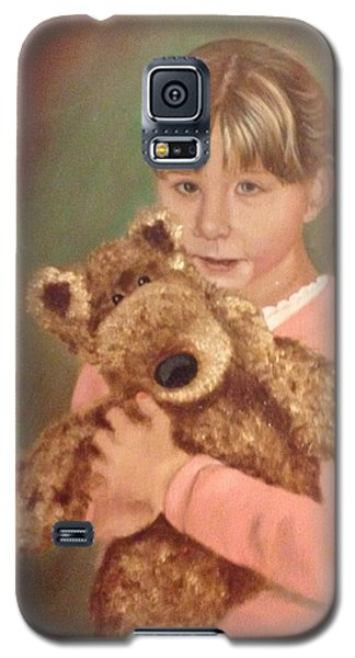 Galaxy S5 Case featuring the painting Teddy Bear by Sharon Schultz