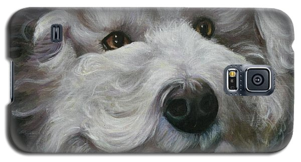 Galaxy S5 Case featuring the painting Teddy The Bichon by Melinda Saminski