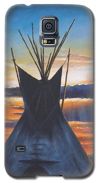 Teepee At Sunset Part 1 Galaxy S5 Case