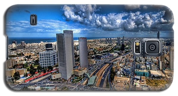 Tel Aviv Center Skyline Galaxy S5 Case by Ron Shoshani