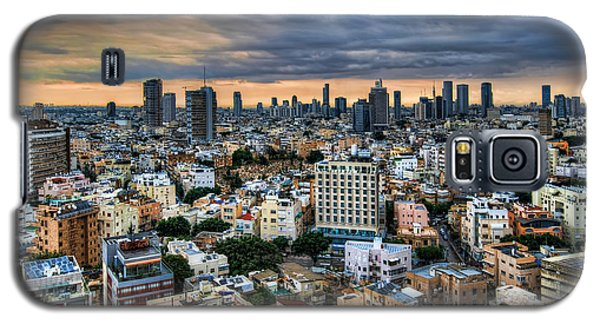 Galaxy S5 Case featuring the photograph Tel Aviv Skyline Winter Time by Ron Shoshani