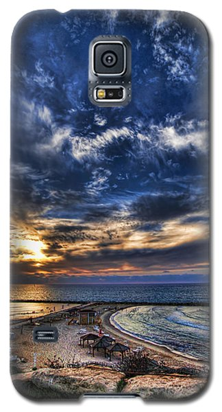 Tel Aviv Sunset At Hilton Beach Galaxy S5 Case