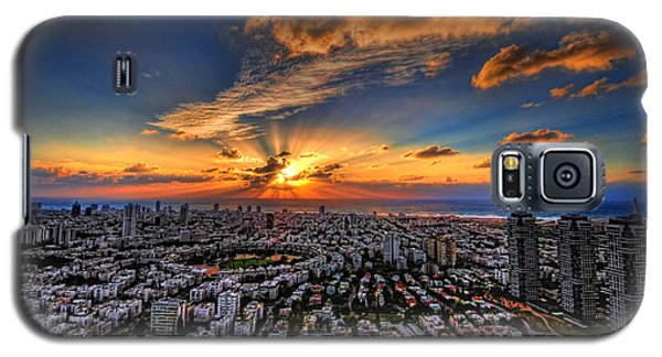 Tel Aviv Sunset Time Galaxy S5 Case by Ron Shoshani