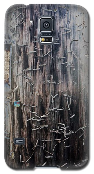 Telephone Pole With Scars From The Past Galaxy S5 Case