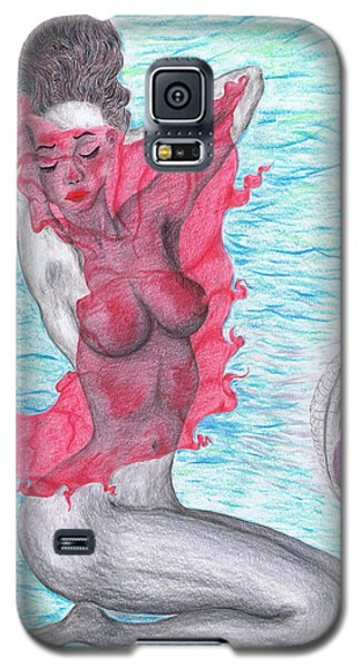 Galaxy S5 Case featuring the drawing Temperate Satin Breeze by Kenneth Clarke