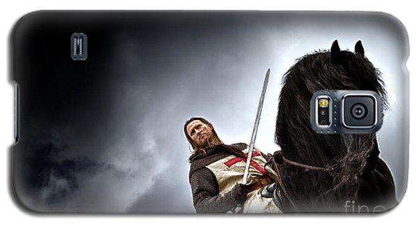 Templar Knight Friesian II Galaxy S5 Case by Holly Martin