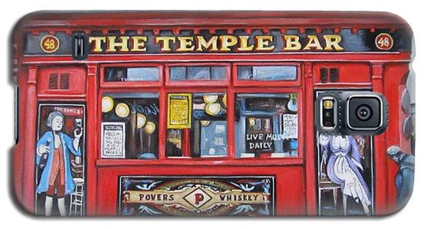 Galaxy S5 Case featuring the painting Temple Bar Dublin Ireland by Melinda Saminski