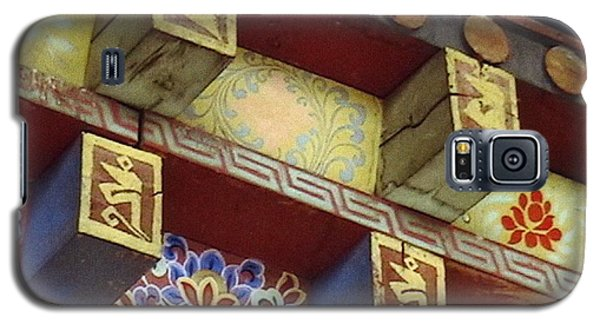 Galaxy S5 Case featuring the painting Temple In Bhutan by Patrick Morgan