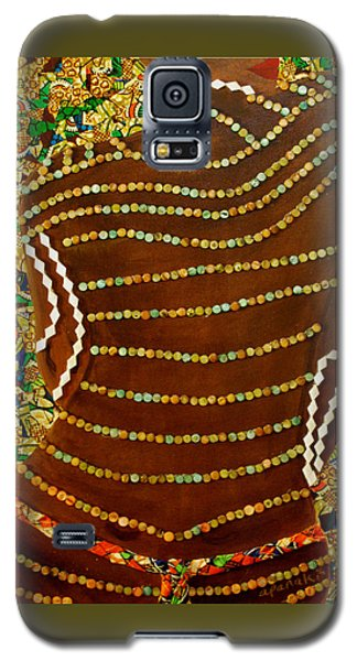 Galaxy S5 Case featuring the tapestry - textile Temple Of The Goddess Eye Vol 2 by Apanaki Temitayo M