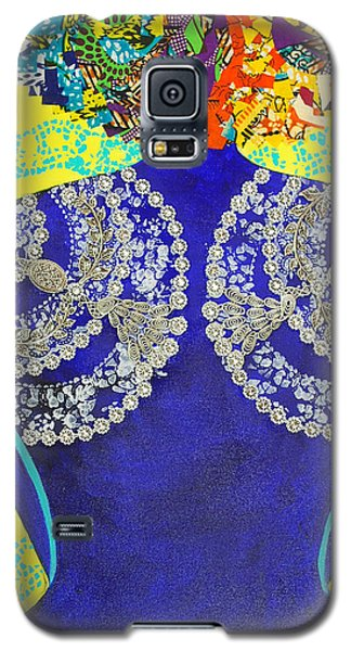 Galaxy S5 Case featuring the tapestry - textile Temple Of The Goddess Eye Vol 3 by Apanaki Temitayo M