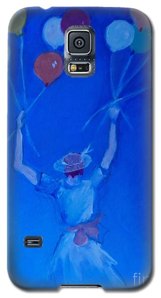 Galaxy S5 Case featuring the painting Ten Balloons by Diane Ursin