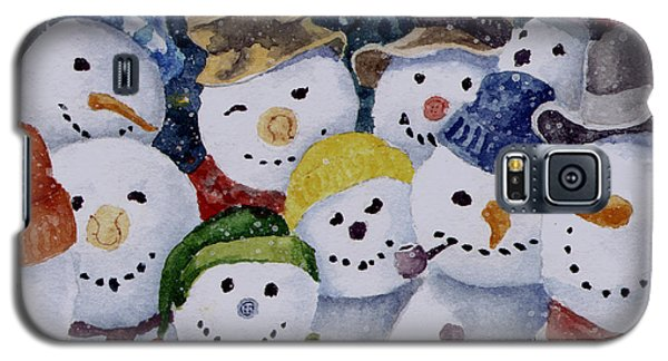 Ten Little Snowmen Galaxy S5 Case