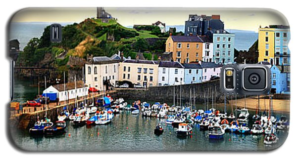 Tenby Harbour Panorama Galaxy S5 Case