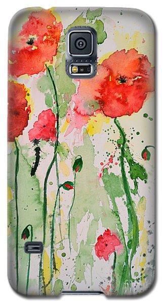 Tender Poppies - Flower Galaxy S5 Case by Ismeta Gruenwald