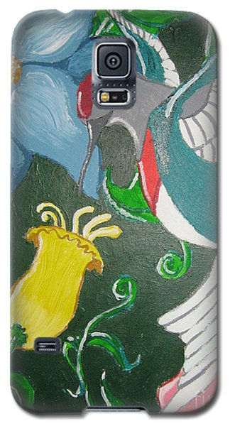 Galaxy S5 Case featuring the painting Tending The Garden by Wendy Coulson