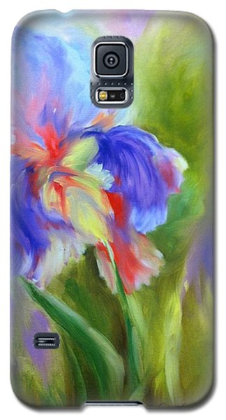 Galaxy S5 Case featuring the painting Tennessee Iris by Carol Berning