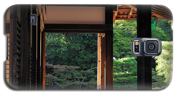 Galaxy S5 Case featuring the photograph Tenryui-ji - Temple - Kyoto by Jacqueline M Lewis