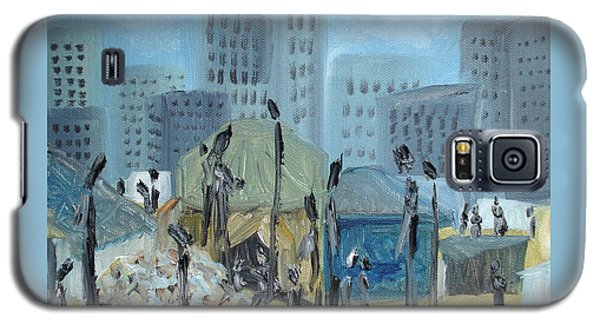 Tent City Homeless Galaxy S5 Case by Judith Rhue