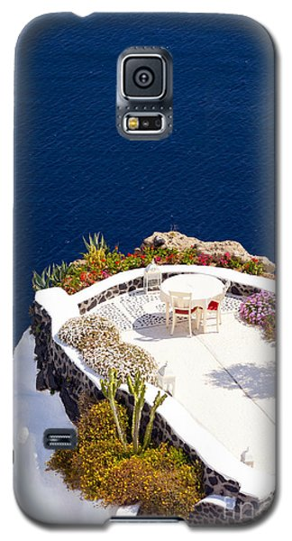 Terrace Garden On The Cliff Galaxy S5 Case by Aiolos Greek Collections