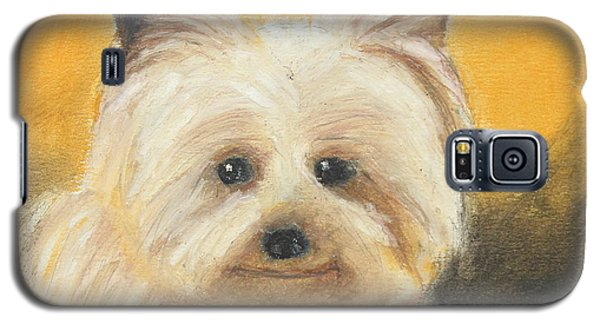 Galaxy S5 Case featuring the painting Terrier by Jeanne Fischer