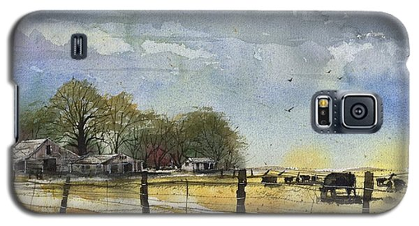 Galaxy S5 Case featuring the painting Terry County Rancho by Tim Oliver
