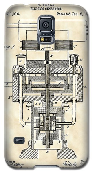 Tesla Electric Generator Patent 1894 - Vintage Galaxy S5 Case by Stephen Younts