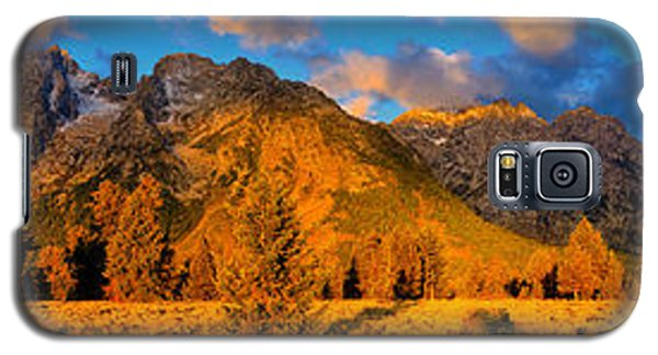 Galaxy S5 Case featuring the photograph Teton Mountain View Panorama by Greg Norrell