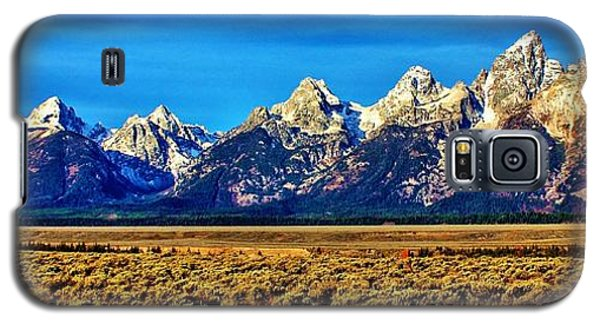 Galaxy S5 Case featuring the photograph Teton Panorama by Benjamin Yeager