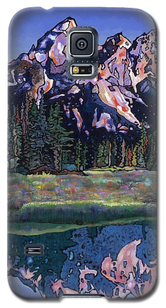 Galaxy S5 Case featuring the painting Teton Summer by Bob Coonts