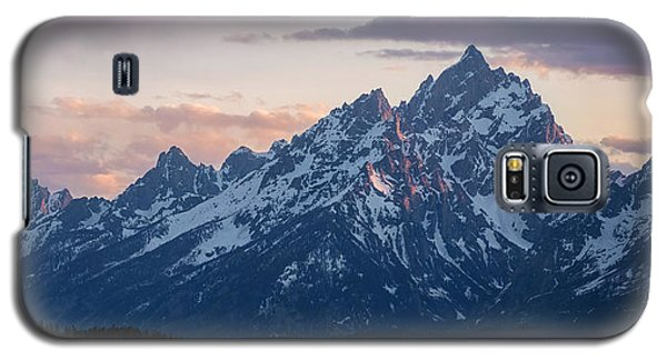 Galaxy S5 Case featuring the photograph Teton Sunset On Jackson Lake by Aaron Spong