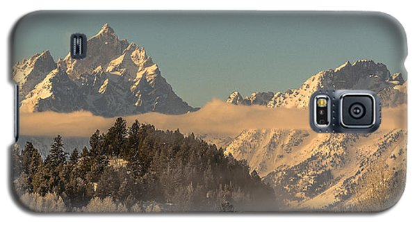 Galaxy S5 Case featuring the photograph Tetons At Jackson Lake Dam by Yeates Photography