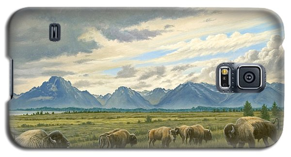 Tetons-buffalo  Galaxy S5 Case by Paul Krapf
