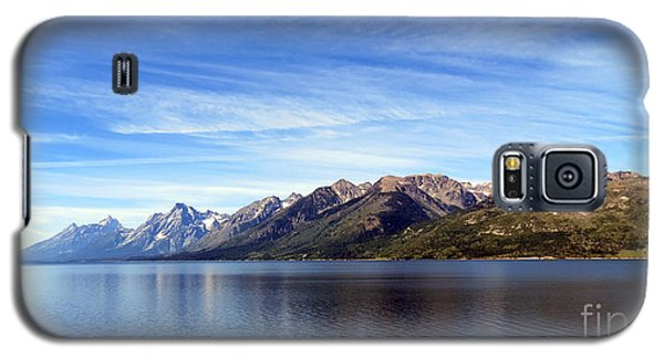 Tetons By The Lake Galaxy S5 Case by Ausra Huntington nee Paulauskaite