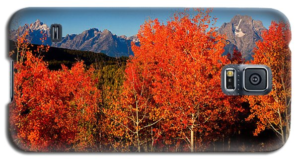 Galaxy S5 Case featuring the photograph Tetons Colors Of Autumn by Aaron Whittemore
