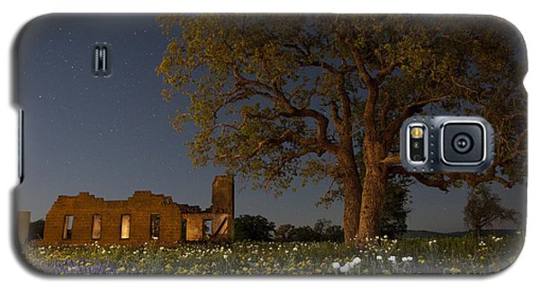 Texas Blue Bonnets At Night Galaxy S5 Case