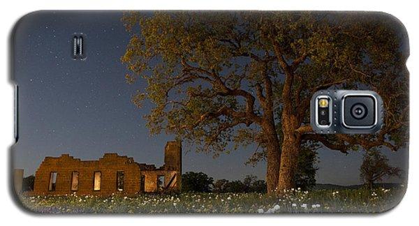 Texas Blue Bonnets At Night Galaxy S5 Case