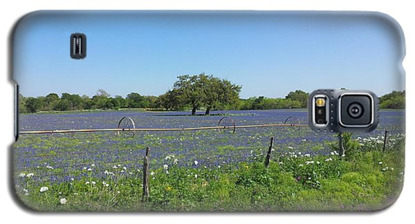 Texas Blue Bonnets Galaxy S5 Case by Shawn Marlow